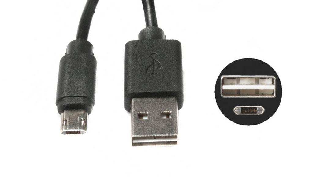 Купить USB кабель micro-USB черный двусторонний LP (120см